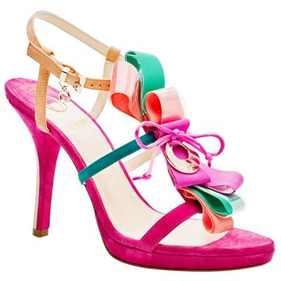 Sandalo realizzato in suède O Jour